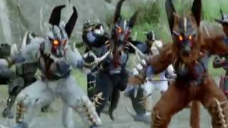 Power Rangers Dino Thunder and Ninja Storm Team Up Morph and Battle (Thunder Storm)