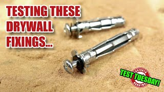 Heavy Duty Expanding Drywall Anchor Strength Test - TEST TUESDAY! [141]