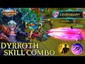 Dyrroth Skill Combo Gameplay - Mobile Legends Bang Bang