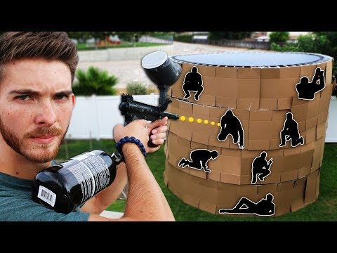 Xxx Mp4 Shoot The Person Hiding In The 4 Story Trampoline Fort EXTREME HIDE AND SEEK 3gp Sex