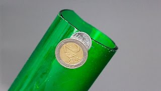 HOW TO CUT GLASS WITH A COIN