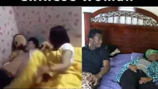 CHINESE WOMAN VS AFRICAN WOMAN REVENGE FOR FAKING SLAP