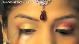 Indian Bridal Wedding Makeup Tutorial | Gold Red Eye Makeup for Indian Bride  | SuperPrincessjo