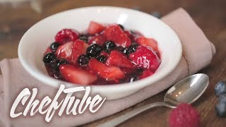 How to make Red Berry Compote - Recipe in description