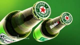 Heineken Beer - Video Billboard Animation & Mockup