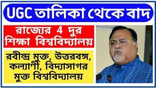 দুঃসংবাদ দুরশিক্ষা - 4 Distance Education University of West Bengal Ejected From UGC ODL Mode List