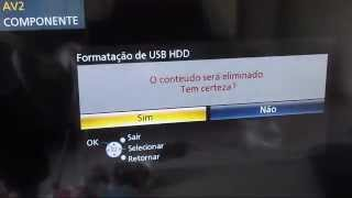 Como gravar video HD externo-TV Panasonic Viera TC-l42et5b