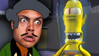 APU FINALLY MEETS THE ALIENS !!! (Simpsons Hit and Run)