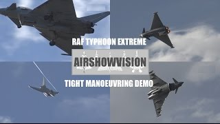 EXTREME TIGHT MANEOVERING RAF TYPHOON DEMO - SOUTHPORT AIRSHOW (airshowvision)