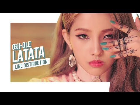 (G)I-DLE - LATATA Line Distribution (Color Coded) | (여자)아이들