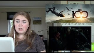 The 100 season 1 episode 13 REACTION The grounders part 2 Season Finale