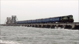 TRAIN ON THE DANGEROUS SEA, RAMESWARAM  BRIDGE