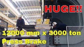 ACCURL MB8 12000 mm x 3000 ton Press Brake- 12 Meter CNC Press Brake Bending ST52 50mm Mild Steel