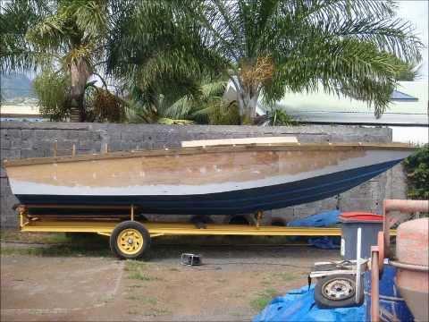 26 ft wooden cigarette boat build