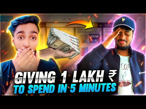 Giving Assassin Nayan 1 00 000 To Spend In 5 Minute Challenge Free Fire