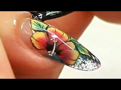 Colour Tip Nail with One Stroke Nail Art Tutorial Video by Naio Nails