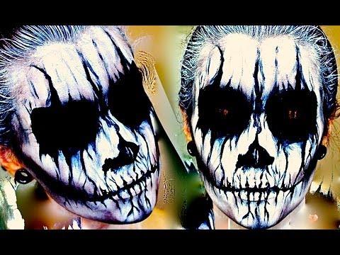 Demon Corpse Paint; Halloween Makeup Tutorial.