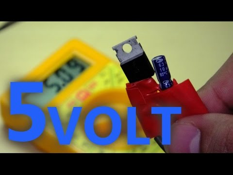 How to make a 5 Volt power supply in 5 minutes