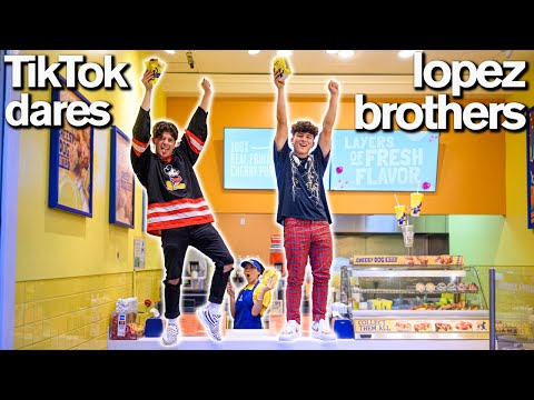 Brother vs Brother FUNNY TIKTOK DARES ft Hype House Lopez Brothers