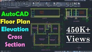 AutoCAD Floor Plan Tutorial for Beginners - 1