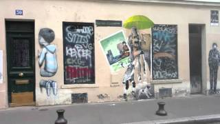 Street Art At The Butte Aux Cailles, Paris, With Eitan Altman's Piano Music