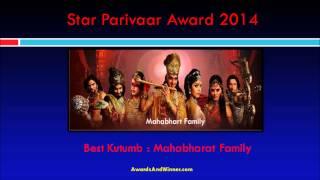 Mahabharat Wins Four Awards in STAR Parivaar Awards 2014.