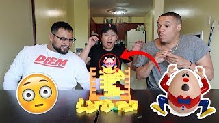 IMPOSSIBLE WALL CHALLENGE!!! (FIRST ONE TO DROP HUMPTY DUMPTY LOSES)