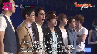 [T2S x SF] 120902 God of Victory - 2PM vs Shinhwa Part 1 (eng subs) 1/5