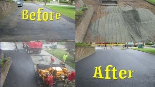 Asphalt Driveway, removed and replaced, start to finish