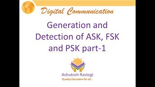 Generation and Detection of ASK, FSK and PSK part 1
