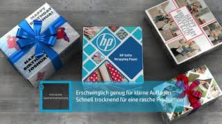 Introducing HP Satin Wrapping Paper (German)
