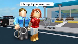 POLICE ARRESTS HIS OWN WIFE! - Roblox Jailbreak Roleplay