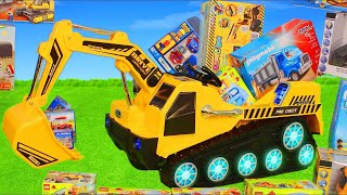 Excavator, Truck, Cars & Dump Trucks Construction Toy Vehicles for Kids | Ride On Surprise Toys