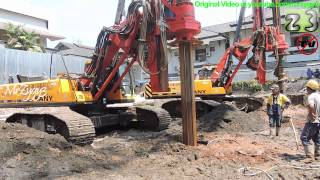 Deep Foundation Drilling Rig Using Auger and Bucket Sany SR150C