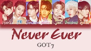 GOT7 - Never Ever [HAN|ROM|ENG Color Coded Lyrics]