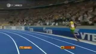 Usain Bolt 9,58 New 100m World Record