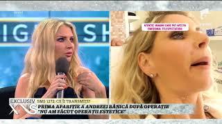 Prima apariție a Andreei Bănică după operație: