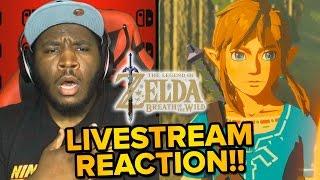 The Legend of Zelda Breath of the Wild - LIVE REACTION & Gameplay Trailer!