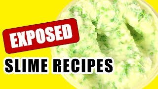 EXPOSING SLIME SHOP RECIPES!!! FAMOUS SLIME SHOP SLIME RECIPES EXPOSED!!! 😱
