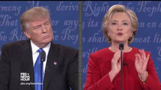 Clinton on 'Trumped up trickle down' economics, Trump attacks Federal Reserve