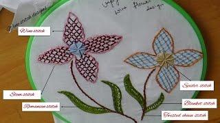 Embroidery designs - Wine stitch designs