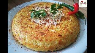 فطيرة البطاطس بالجبن الشهية بدون فرن سهلة وسريعة في دقائق