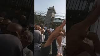 """Iran, des employés retraités  """"L'ennemi est ici, ils mentent en disant que ce sont les Etats-Uni"""""""