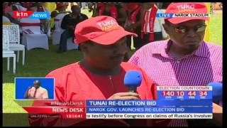Narok Governor Samuel Tunai has launched his re-election bid to vie on a Jubilee ticket