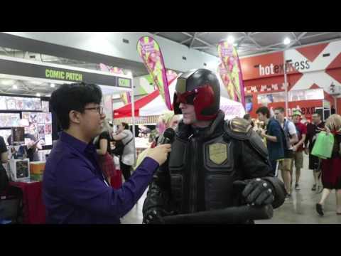 Brisbane Oz Comic Con 2016 interview with Judge Dredd Cosplayer
