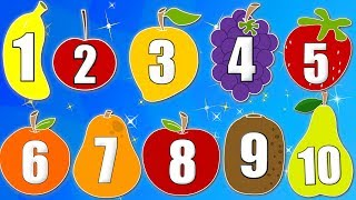 Learn Numbers With Fruits | Fruits Song | Learn Fruits | Nursery Rhymes | Baby Song | Kids Rhyme