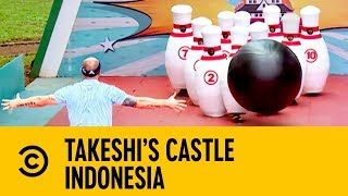 Knocking Down Contestants with Georgia Toffolo | Takeshi's Castle Indonesia