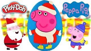 Huevo Sorpresa Gigante de Peppa Pig La Navidad de Peppa de Plastilina Play Doh en Español