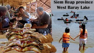 Visit West Baray Lake Resort in Siem Reap Province   Baray Teuk Thla Reservoir in Cambodia