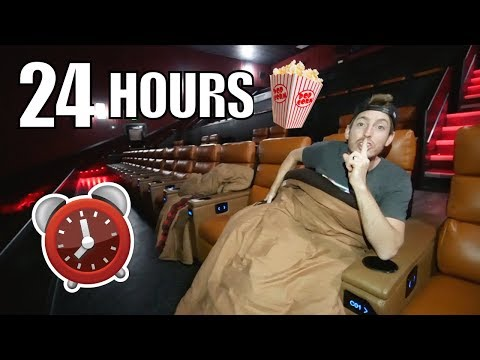 24 HOUR MOVIE THEATER OVERNIGHT FORT!